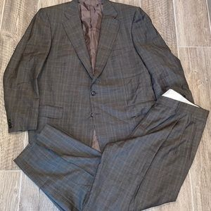 Men ERMENEGILDO ZENGA Super 100 Suit Plaid 46